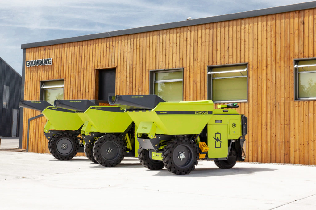 High Tip Battery Powered Dumpers - Ecovolve